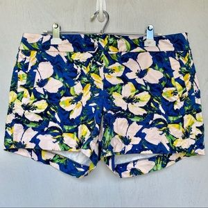 J. Crew Blue & Pink Floral/ Flower Shorts